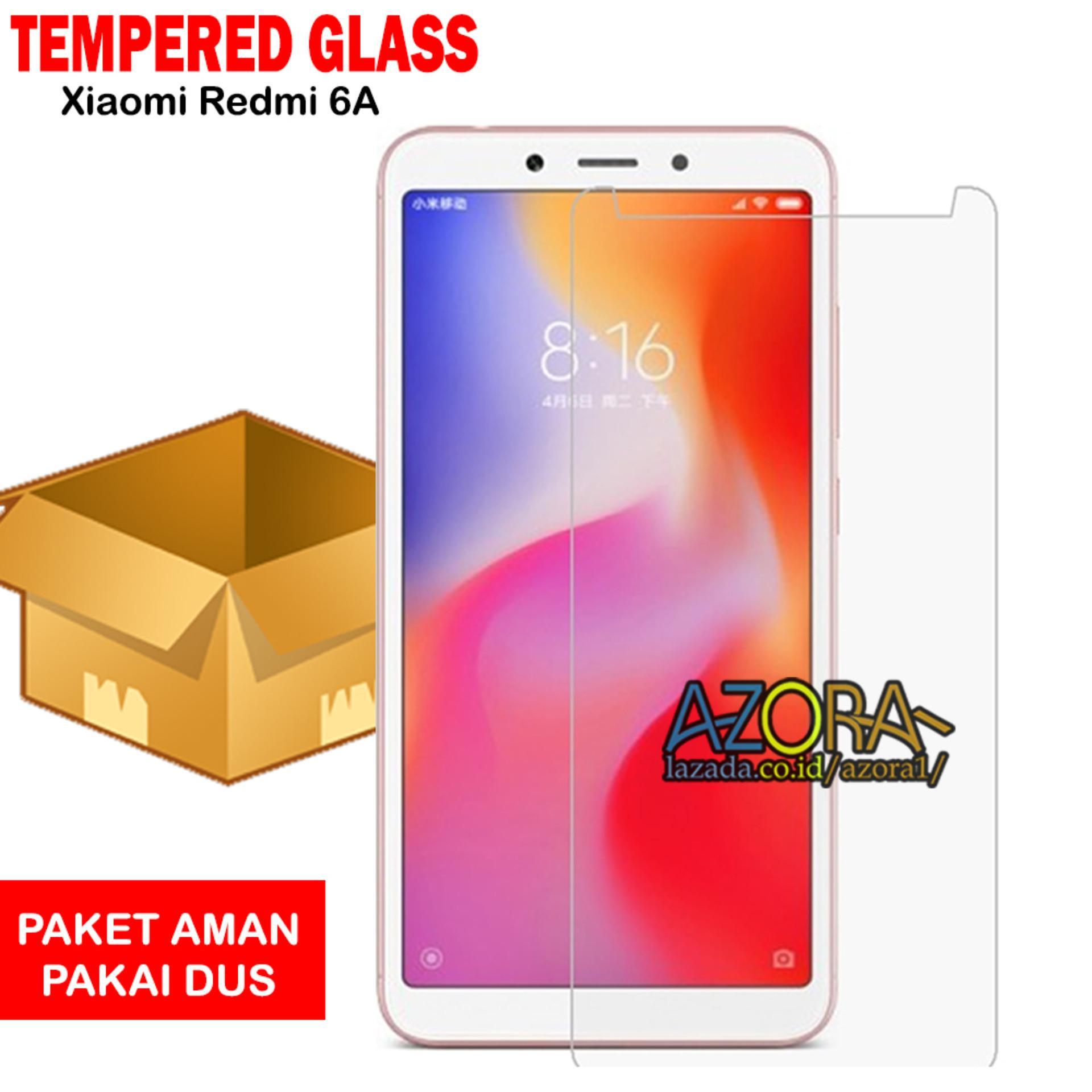 Tempered Glass Xiaomi Redmi 6A Screen Protector Pelindung Layar Kaca Anti Gores - Bening