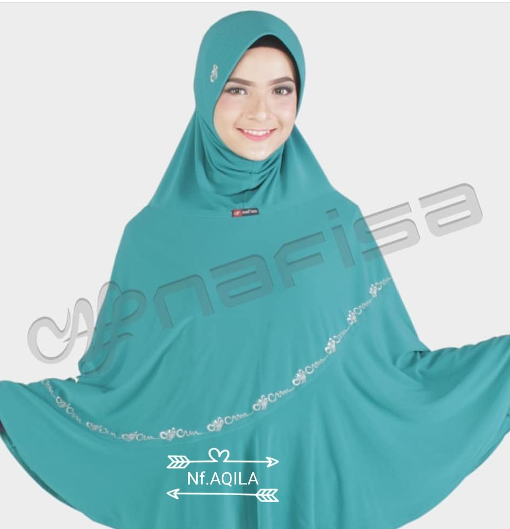 jilbab nafisa instan aqila original