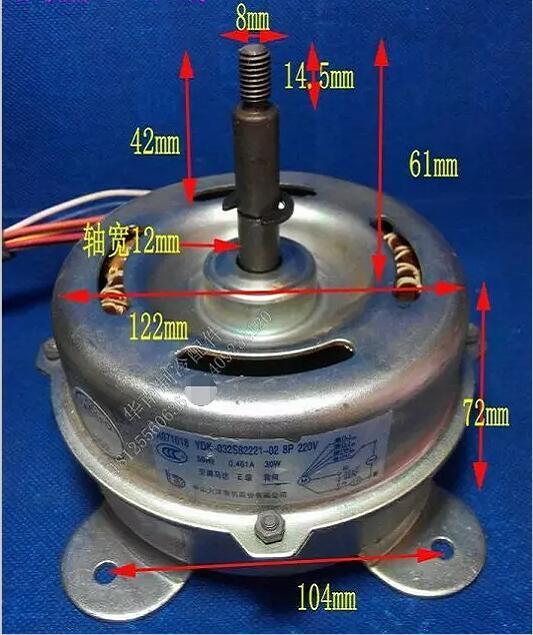 Baru Panasonic pendingin ruangan suku cadang mesin kabinet dalam kipas angin Motor 30 W YDK30-8Q A971022