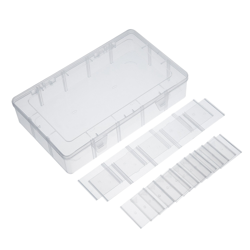 15 Compartments Clear Crafts Organizer Storage Box for Case Jewelry Container Craft Organizer