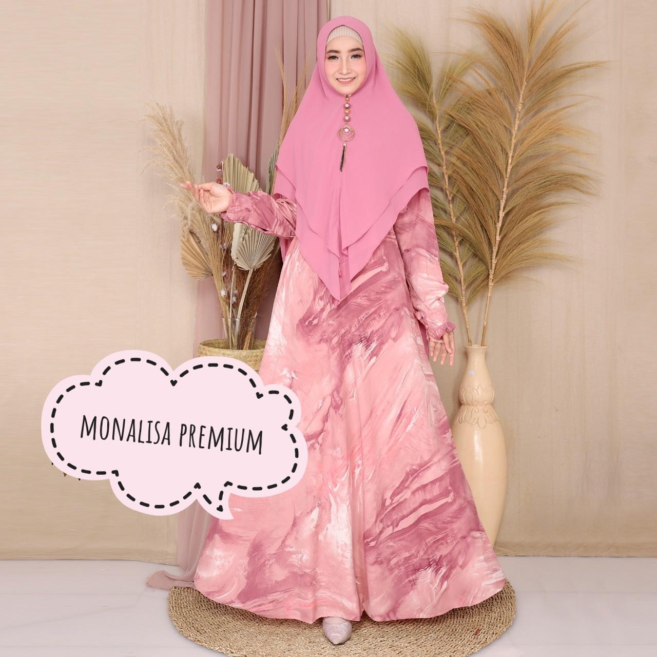 [TERLARIS] Gamis Syari Wanita Terbaru 10 Modern Baju Muslim Wanita Murah  Gamis Monalisa Premium [Hanara Dress]