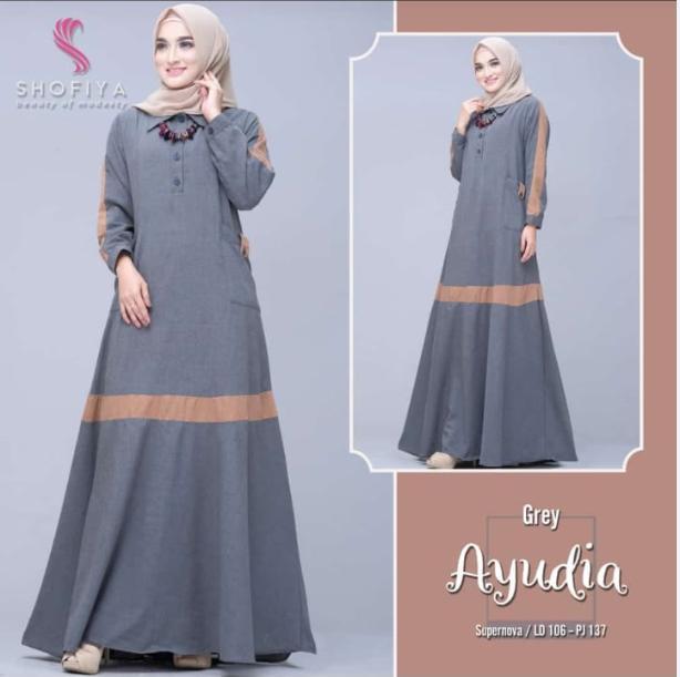 AYUDIA DRESS baju gaun/gaunmurah/kekninian/topfashion/thebest/cool/cocok/kasual/mini/xl/100ld/murah/terbaik/besar/muslim/muslimah/trendi/awal tahun/lucu/best selller/baju muslim/muslimah/pengajian/pesta/pernikahan/bahan moscrepe/tebal/dingin/best dress/to