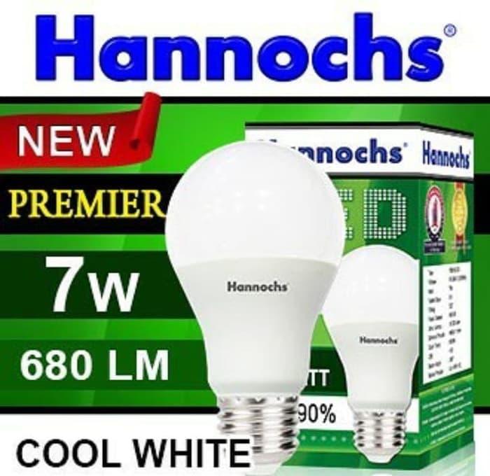 (6 Pcs) Lampu LED Hannochs Premier 7w 7 watt Putih - Bohlam Hemat Listrik