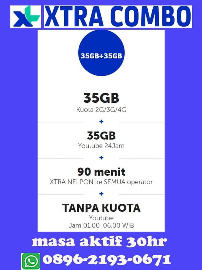 PAKET DATA / KUOTA XL EXTRA COMBO (TOTAL KUOTA 70GB)