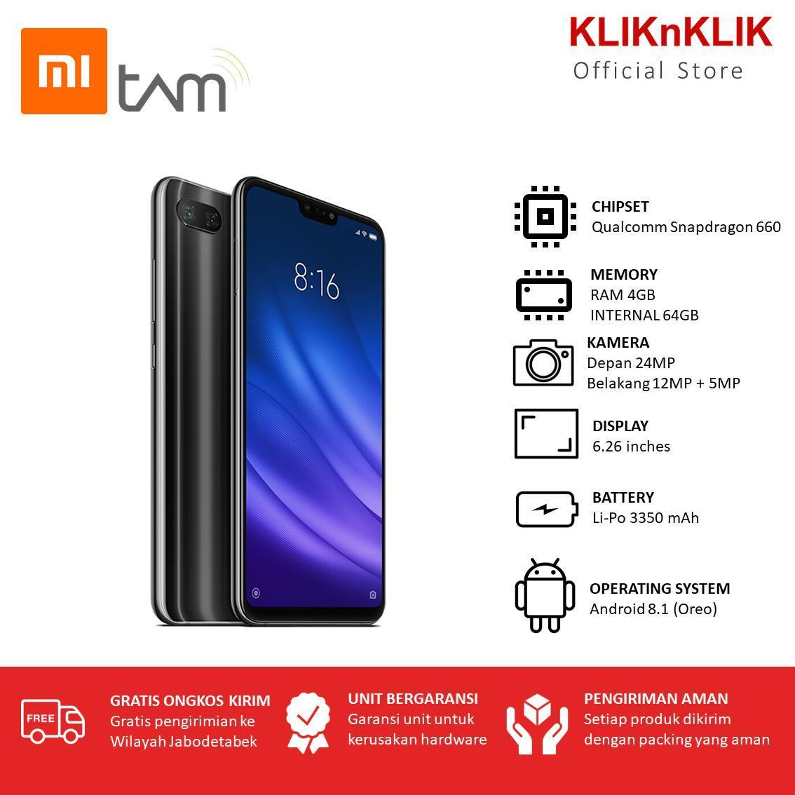 XIAOMI Mi 8 Lite - 4GB/64GB-Black-Garansi TAM