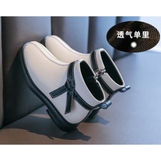 Bé Gái Bốt Ngắn Công Chúa Năm 2020 Mẫu Mới Da Thật Bốt Mùa Đông Trẻ Em Giày Da Mịn Hơn Hai Bông Dr. Martens Thu Thủy Triều thumbnail