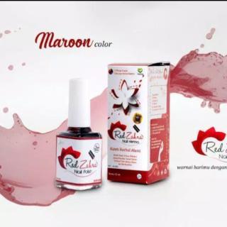 Hana Zakiyah Kutek Red Zahra Maroon Nail Hena Red Zahra Maroon thumbnail