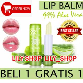 LILY - [BELI 1 GRATIS 1] Lipstick Aloe Vera Lip Balm TANAKO 99% Soothing Mouisturizing Aloe Vera Lipbalm Aloevera Lip Balm Aloe Vera PEIYEN LIPSTIK TAHAN LAMA thumbnail