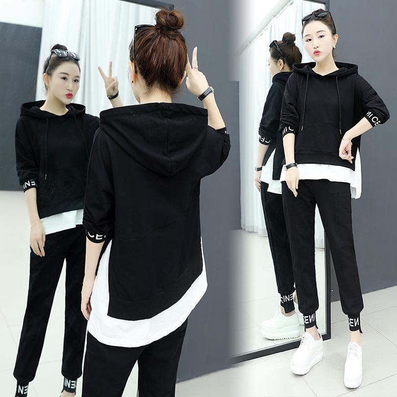 Europe Station casual Baju olahraga Set baju wanita busana Musim semi 2019 model baru modis pasang
