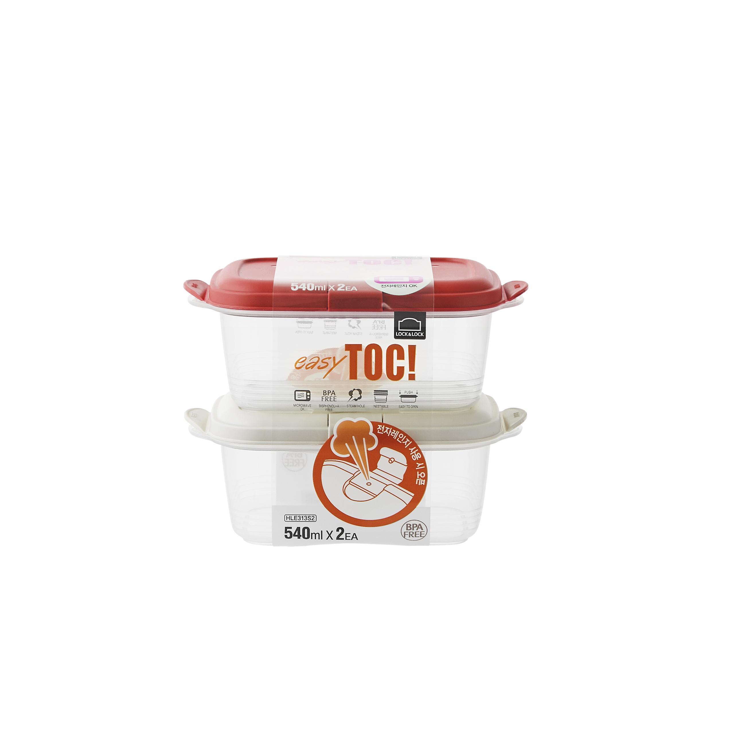 Lock & Lock Exclusive Easytok Food Container Wadah Makanan Serbaguna Ukuran Variasi