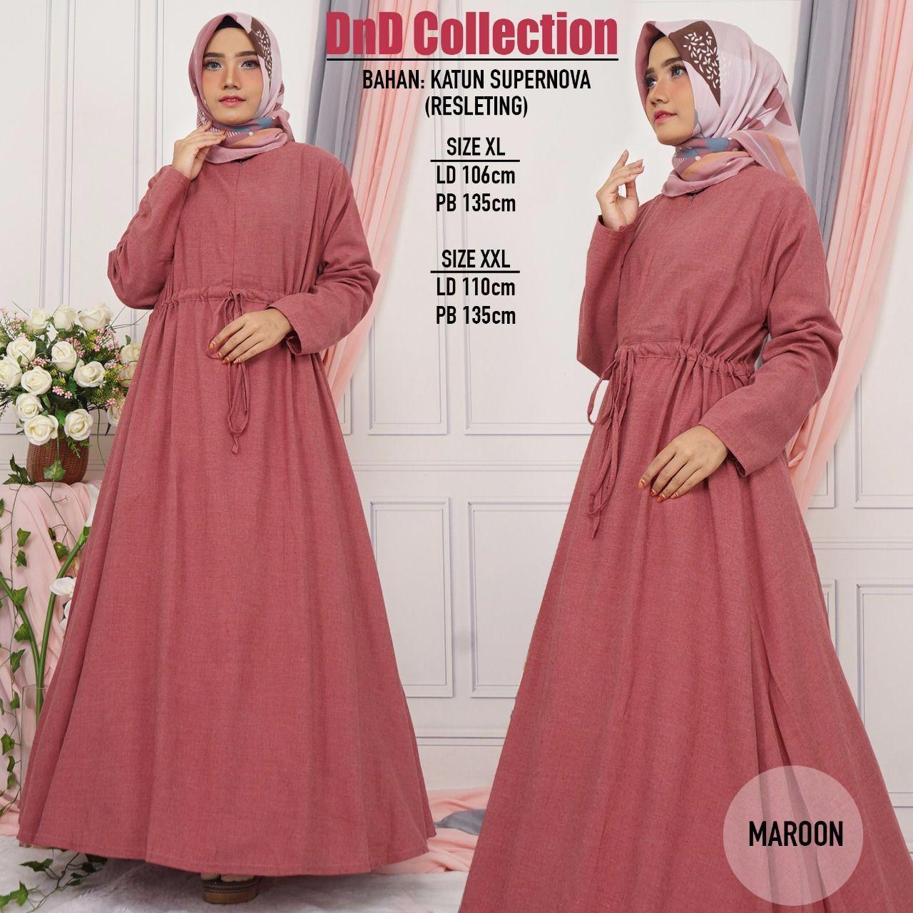 DnD - (COD) PROMO GAMIS MURAH BAHAN KATUN SUPERNOVA Baju Gamis Gamis wanita Baju Muslimah Dress Mus