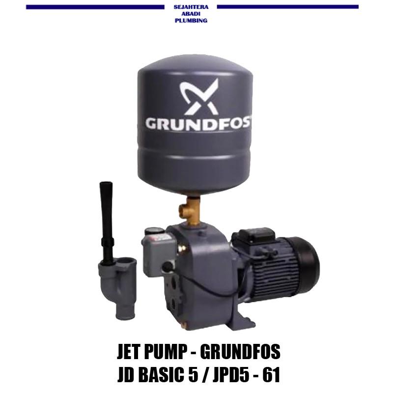 Pompa Air Sumur Dalam Jetpump Grundfos Jd Basic 5 500 Watt Lazada Indonesia