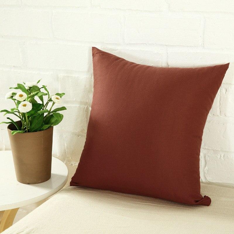 Promo - Isi : 3 Pcs Sarung Bantal Sofa Polos Uk.40x40 Aneka Warna Polos / Sofa Ruang Tamu