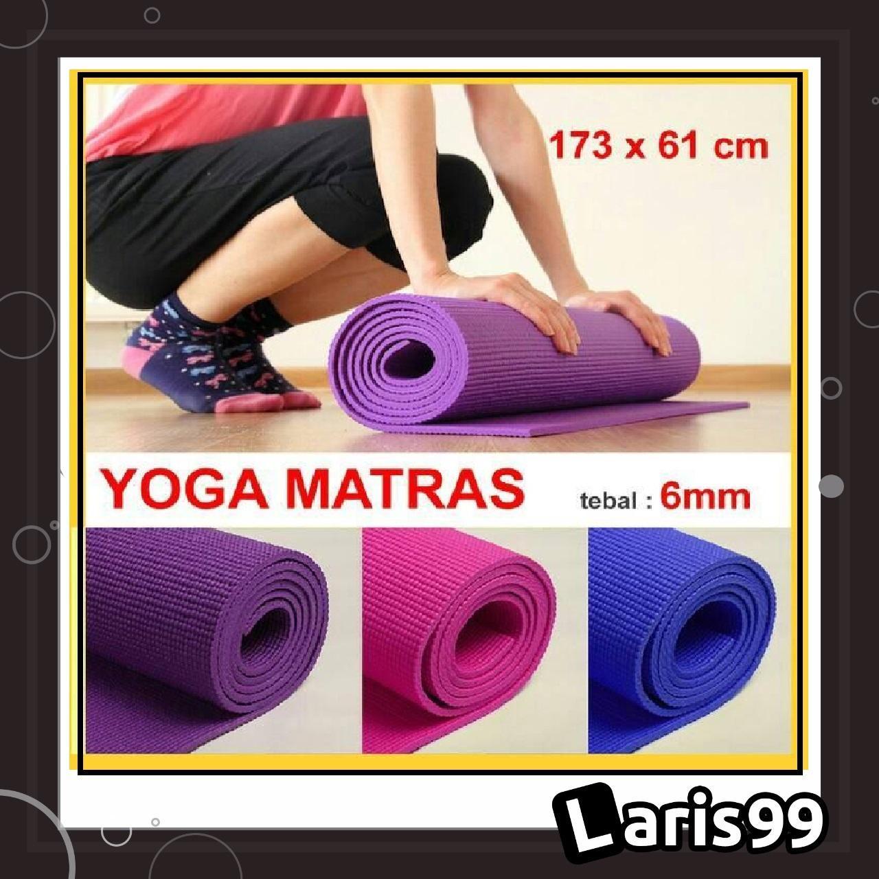 Laris99 Mty Matras Yoga Anti Selip Kualias Bagus + Tas / Matras Yoga Tebal 7mm / Matras Olahraga By Laris99.