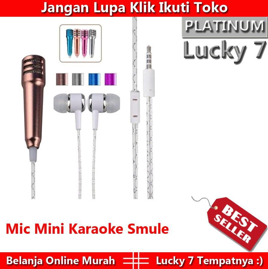 [JUAL MURAH] Mic Mini Karaoke Smule Plus Headset - Mic Earphone 2 In 1