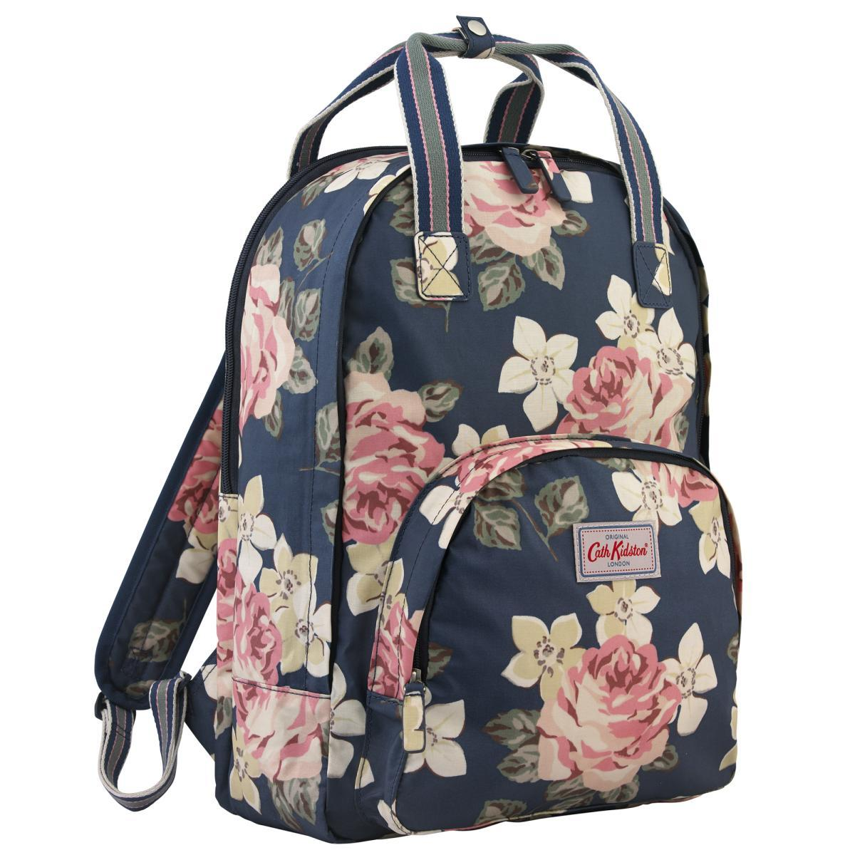 Cath Kidston Spray Flower Zipped Handbag Hitam Smart4k