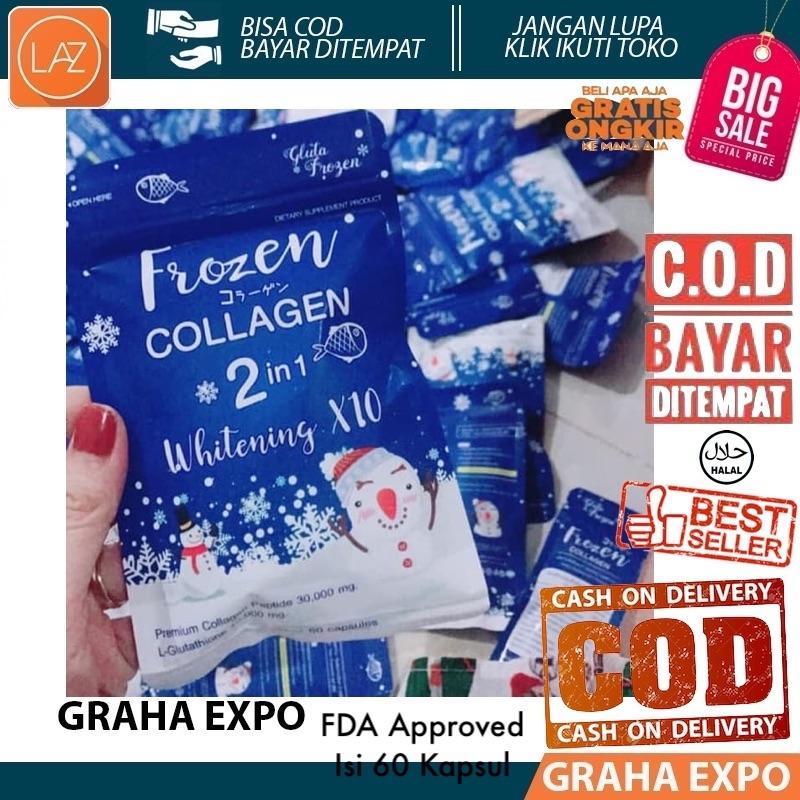 Bisa Cod / Bayar Di Tempat Frozen Collagen 2 In 1 Whitening X10 Gluta Isi 60 Kapsul Pemutih Fda Approved Original Made In Thailand Colagen Kolagen Skin Care Beauty Laz Cod Graha Expo By Grahaexpo.
