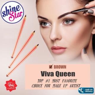 SHINE STAR - Viva Pensil Alis Queen - Pencil Eyebrow Viva - Warna Coklat thumbnail