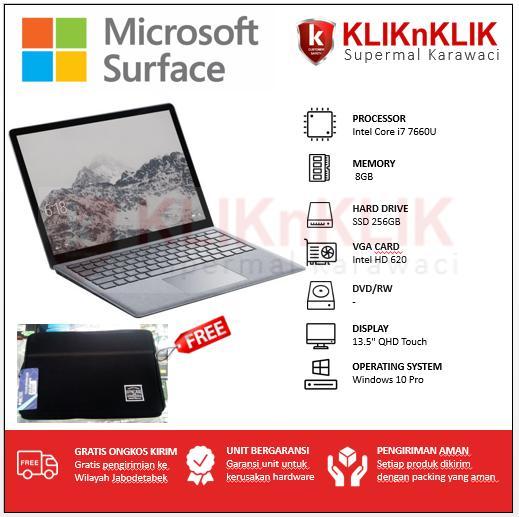 MICROSOFT Surface Laptop 7660U-8GB-256GB-13.5 QHD-Win10Pro Platinum