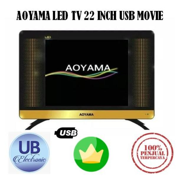 TV LED AOYAMA LED TV 22 INCH USB MOVIE HDMI HITAM