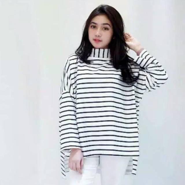 Labelledesign Blouse XXL Jumbo Lengan Panjang Murah Wanita Stevoa Salur