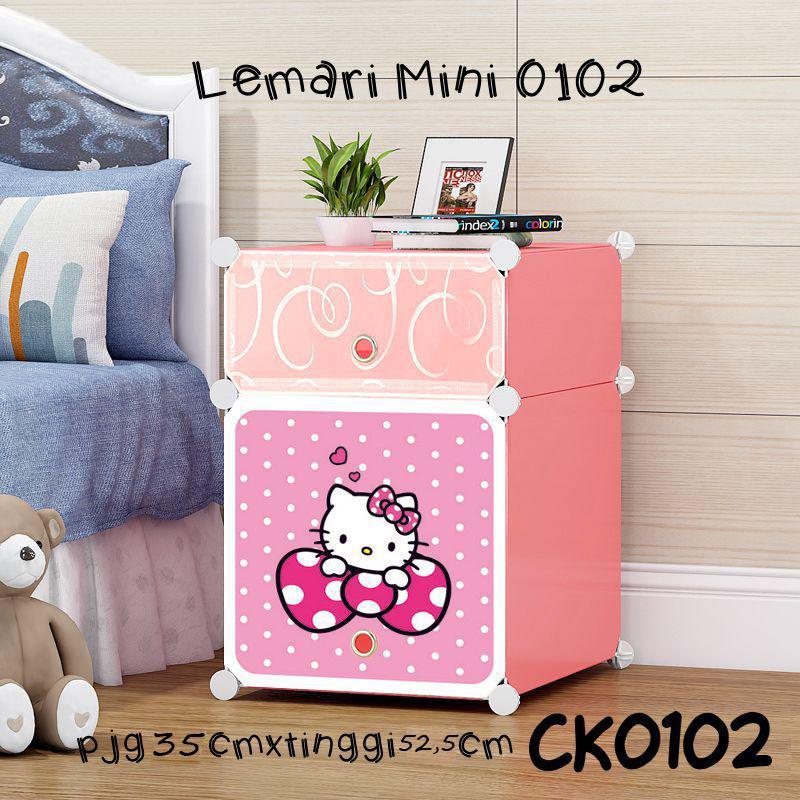 Lemari Sisi Ranjang Plastik/lemari Pakaian Portable/lemari Serba Guna Hard Plastic By New Century ( Future Home ).