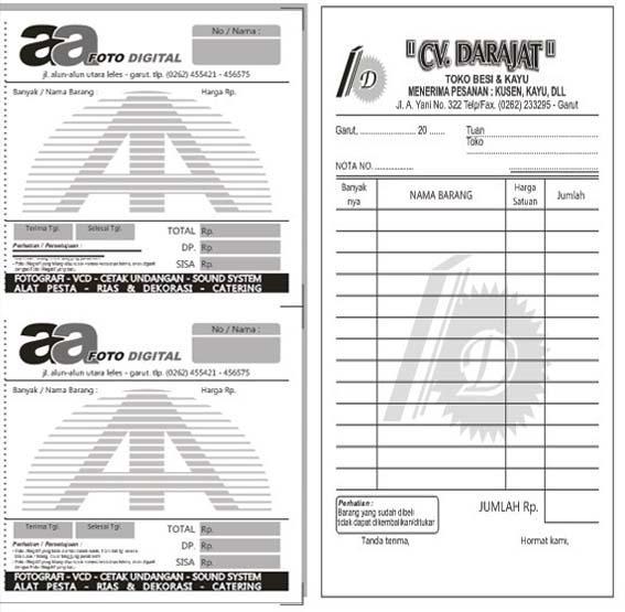 Koleksi Template Desain Nota Siap Edit Format Coreldraw