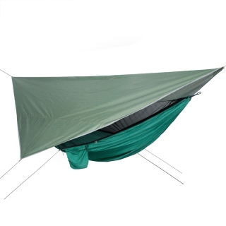 Netting Hammock+Canopy Outdoor Camping Sun Shelter Portable Mosquito Waterproof Swing Bed thumbnail