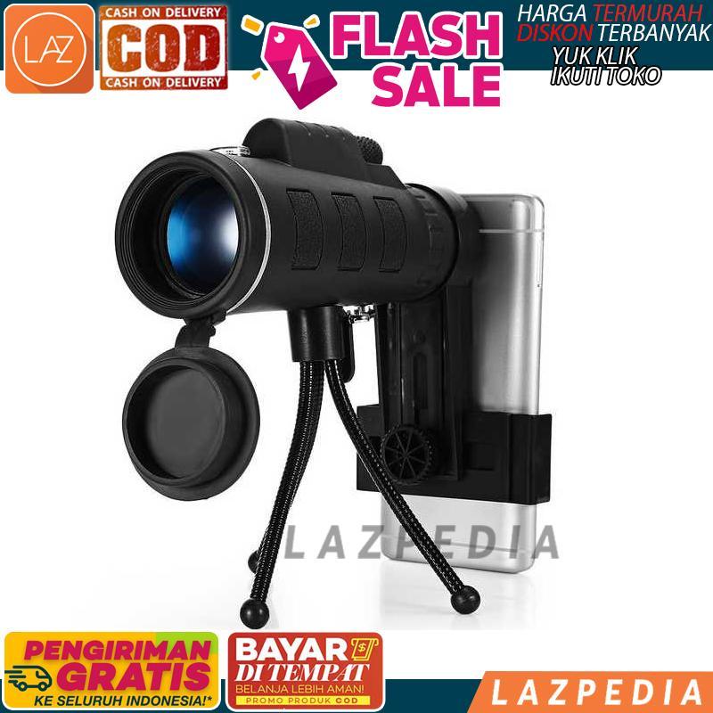 Cod - [hitam 40x60 Wgwyj01] Lensa Tele Zoom Hd Untuk Smartphone / Lensa / Aksesoris Hp / Kamera - Lazpedia A1094 By Lazpedia.