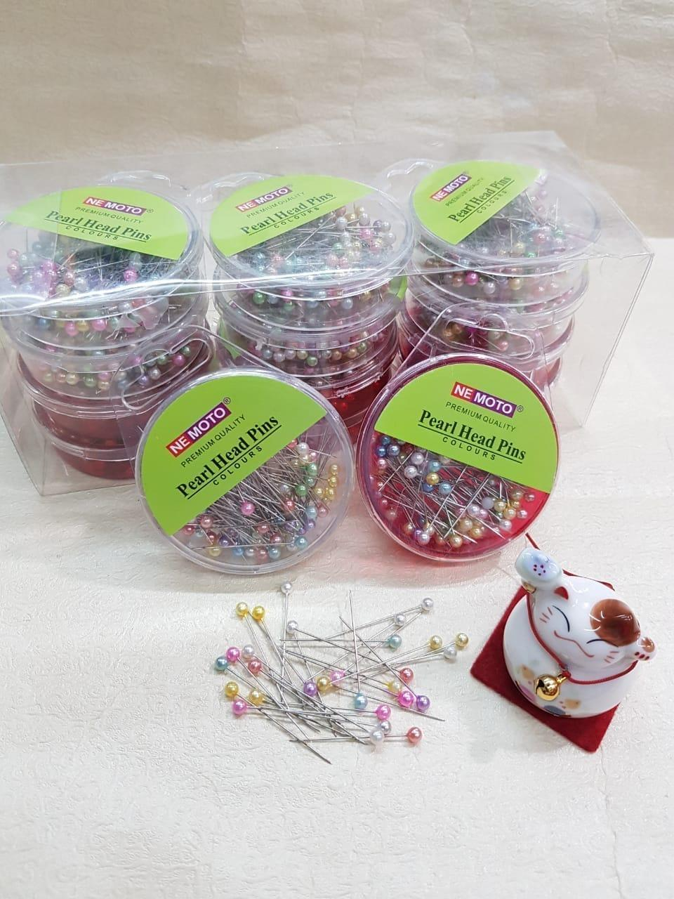 1 ( Satu ) Pack Nemoto Jarum Pentul / Peniti / Hijab Pearl Head Pins - 156 By Abelle Collections.