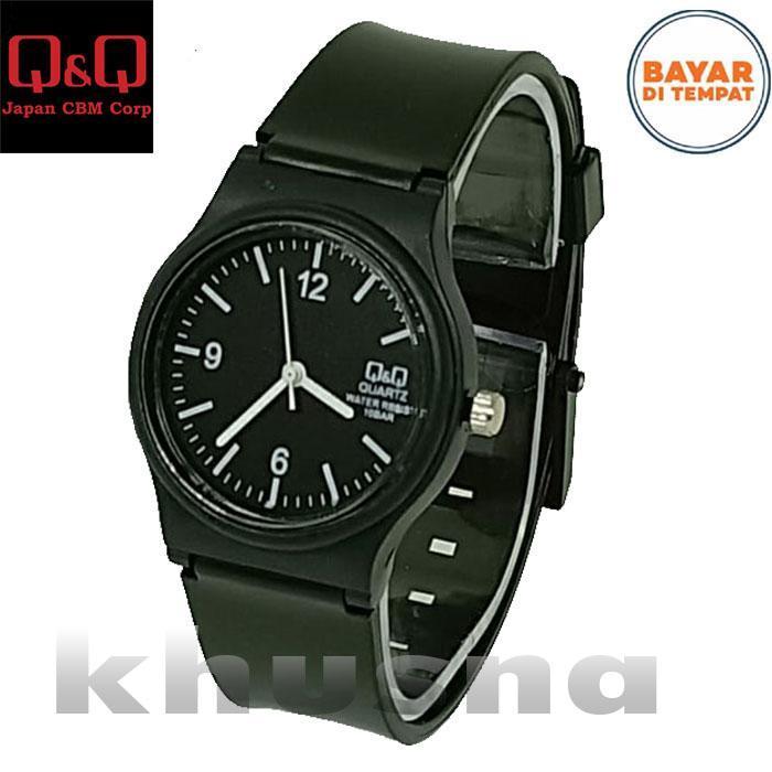 QQ Q&Q jam tangan wanita dan anak anak cewek desain sporty model casual fitur analog tali