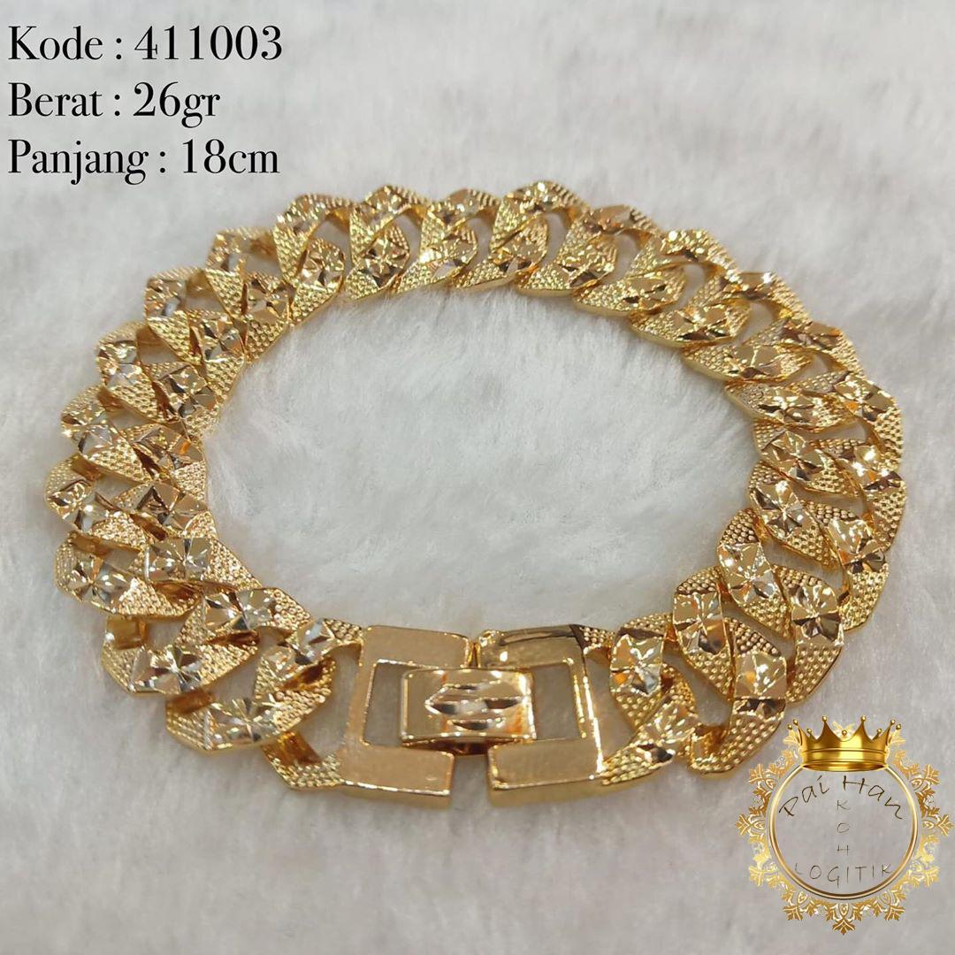 Gelang Xuping Rantai Mewah Lapis Emas 24K Gold Polos