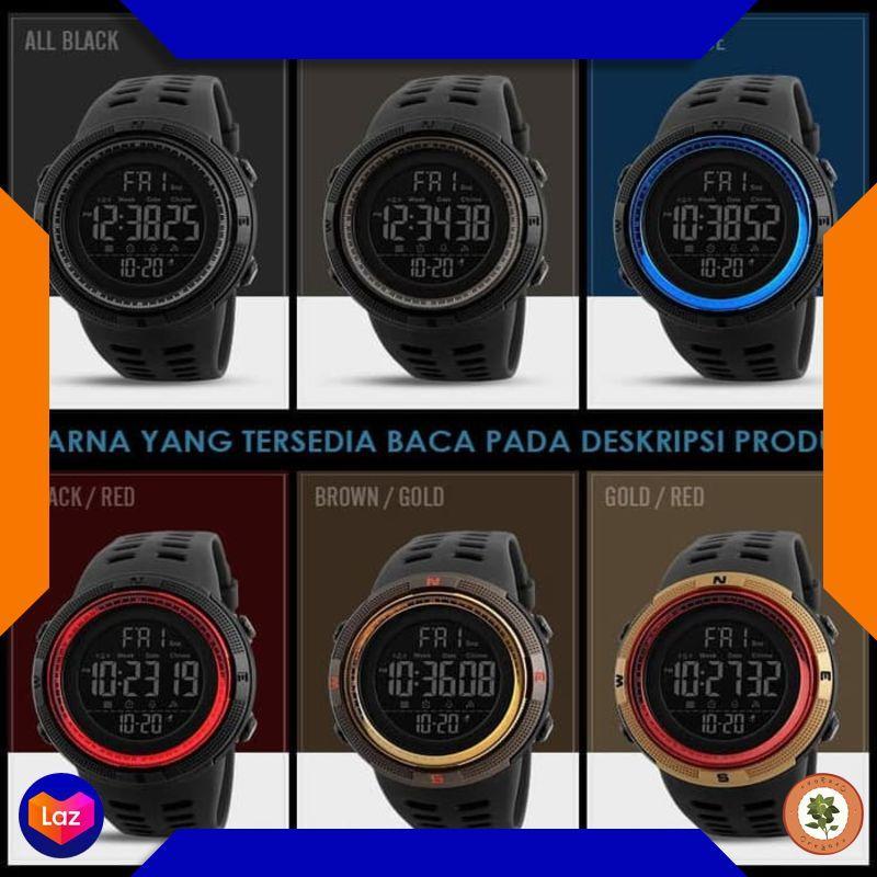 Grosir Jam Tangan Pria Sport SKMEI 1251 Original Anti Air 50M / SUUNTO EIGER - ALL BLACK Keren