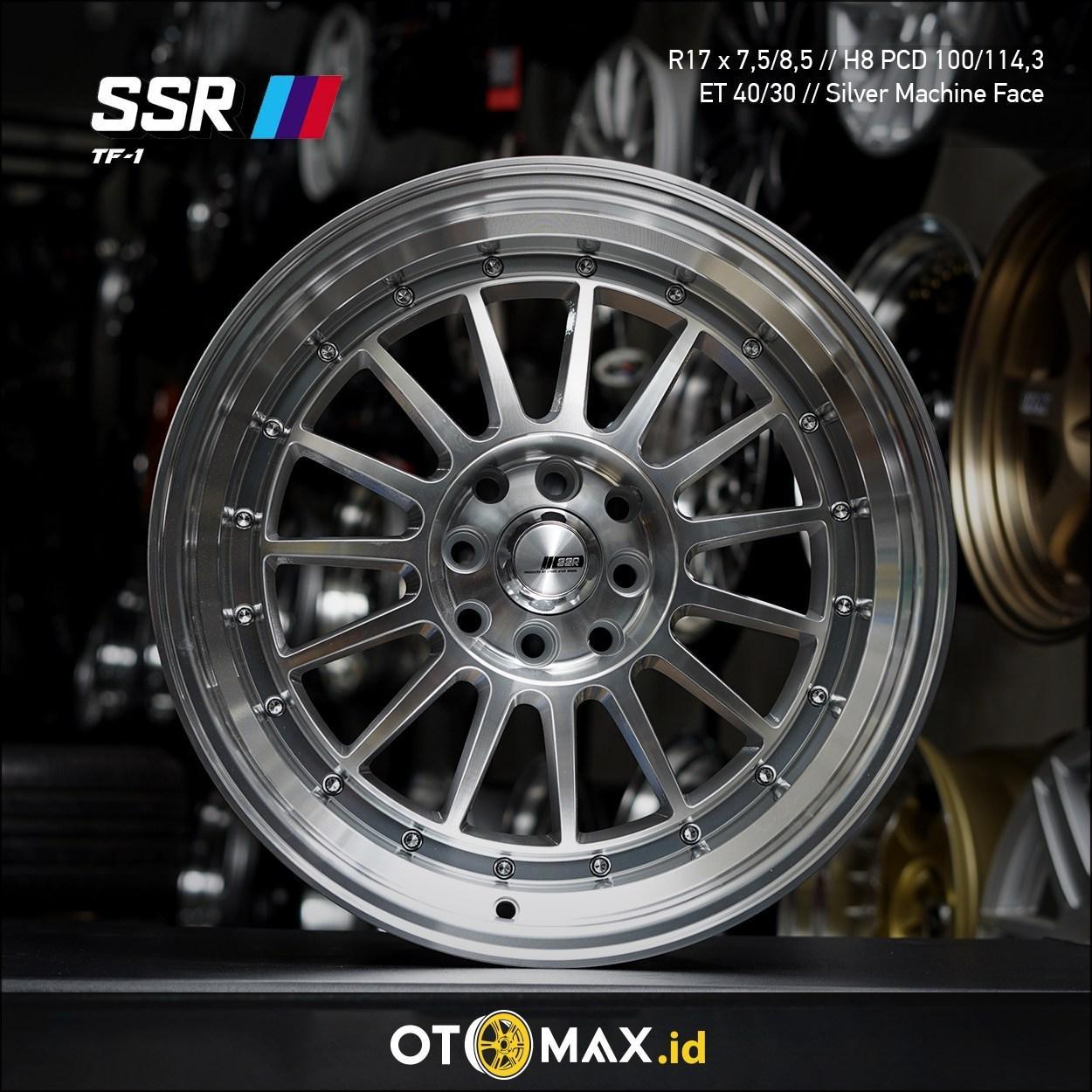 Velg Mobil SSR TF-1 Ring 17 Silver Machine Face Lip+CR