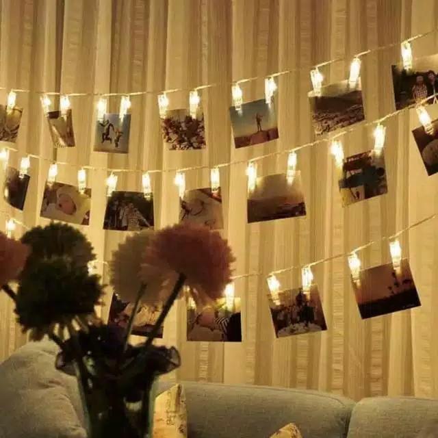 Lampu Jepit Foto Tumblr Lampu Hias Lampu LED Lampu Warna Warni Lampu Instagramable panjang 4meter 20 jepit LED Sumber Arus Listrik