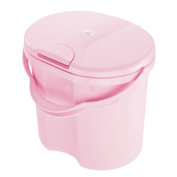 Rotho Nappy Pail Top - Tender Rose Pearl By Babyzania.