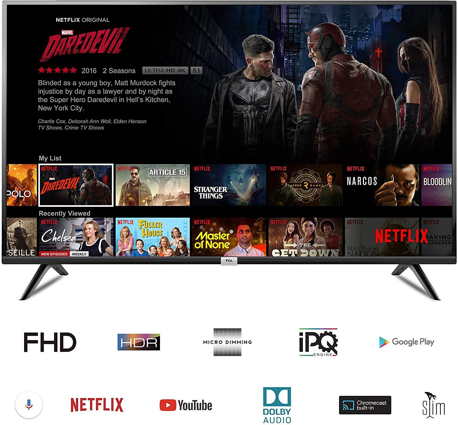 Smart Televisi TCL 32 inch Android SMART TV LED DVB T2