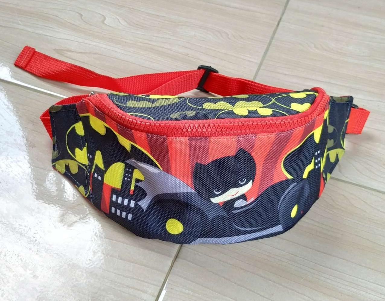 aly waistbag anak / tas selempang karakter / Batman 01