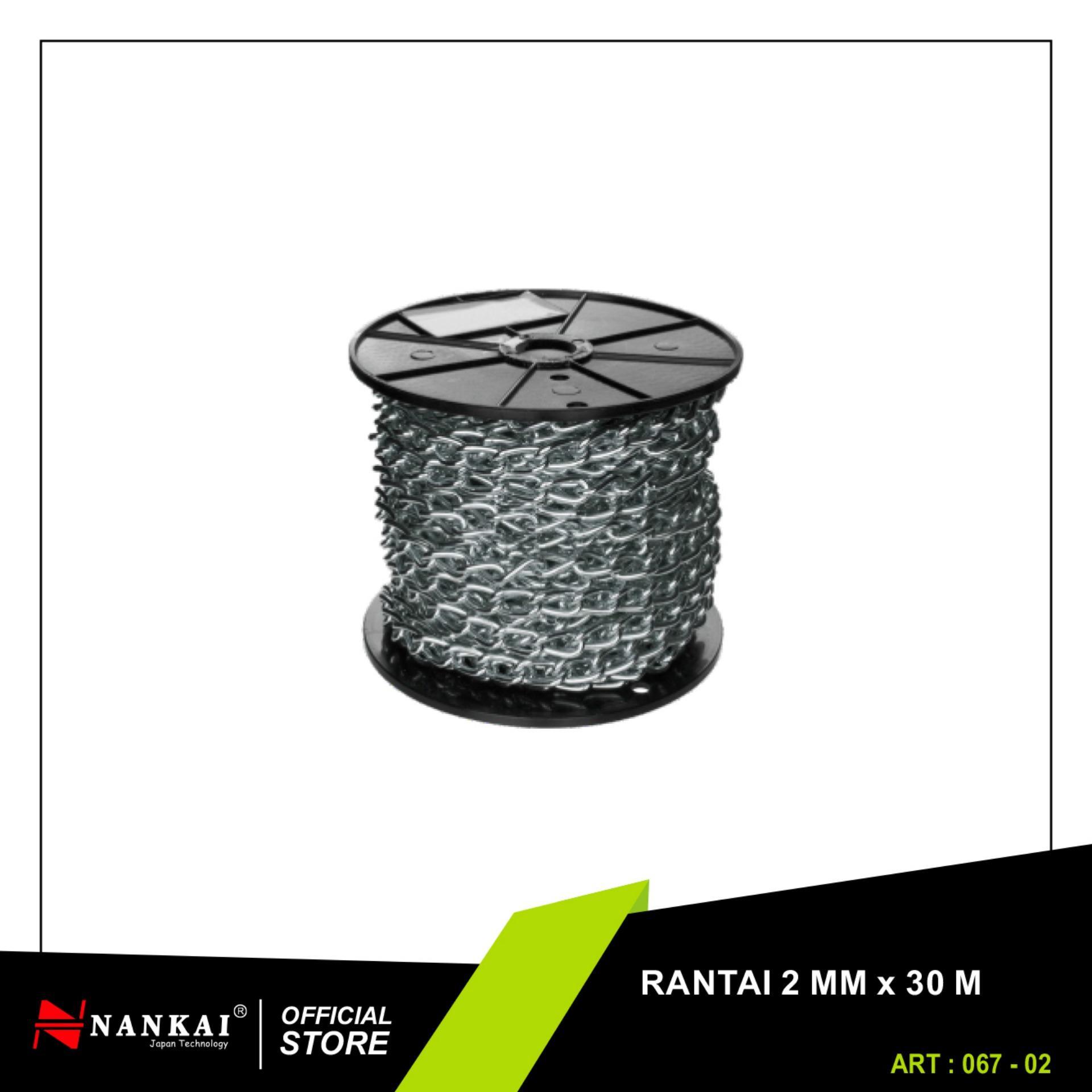 ... Nankai Rantai Besi Galvanis Meteran Gulungan 2mm x 30m Galvanis Metal Chain Perkakas Tool