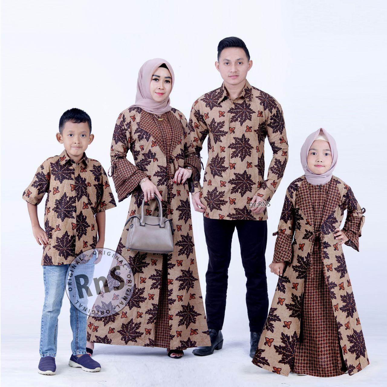 COD Batik Couple family / Batik Keluarga / batik gamis ibu anak / batik  anak / batik sarimbit/ Baju Batik Keluarga 10 set ortu + anak model terbaru