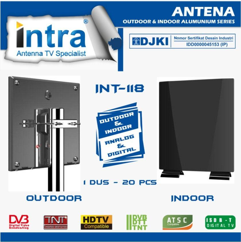 Antena TV Luar / Dalam Indoor/Outdoor Digital/Analog INTRA