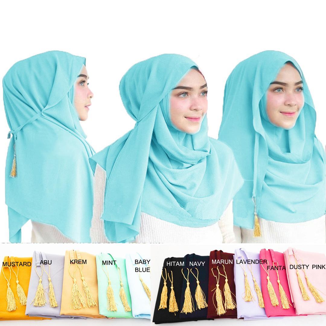 Kerudung Instan Amira Tassel Pashmina Instan Oshi Almira Hijab Instan Jilbab Instan Khimar Instan