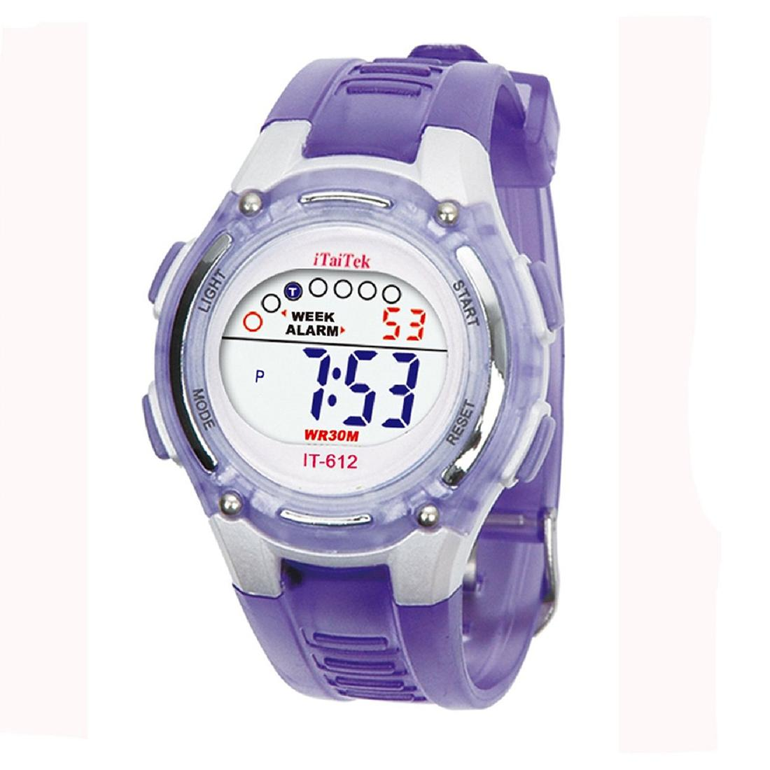 ITaiTek Kids Swimming Digital Sports Waterproof Wrist Watch (Purple) Malaysia