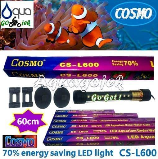 Cosmo CS-L600P Lampu LED 60cm Aquarium Warna Putih
