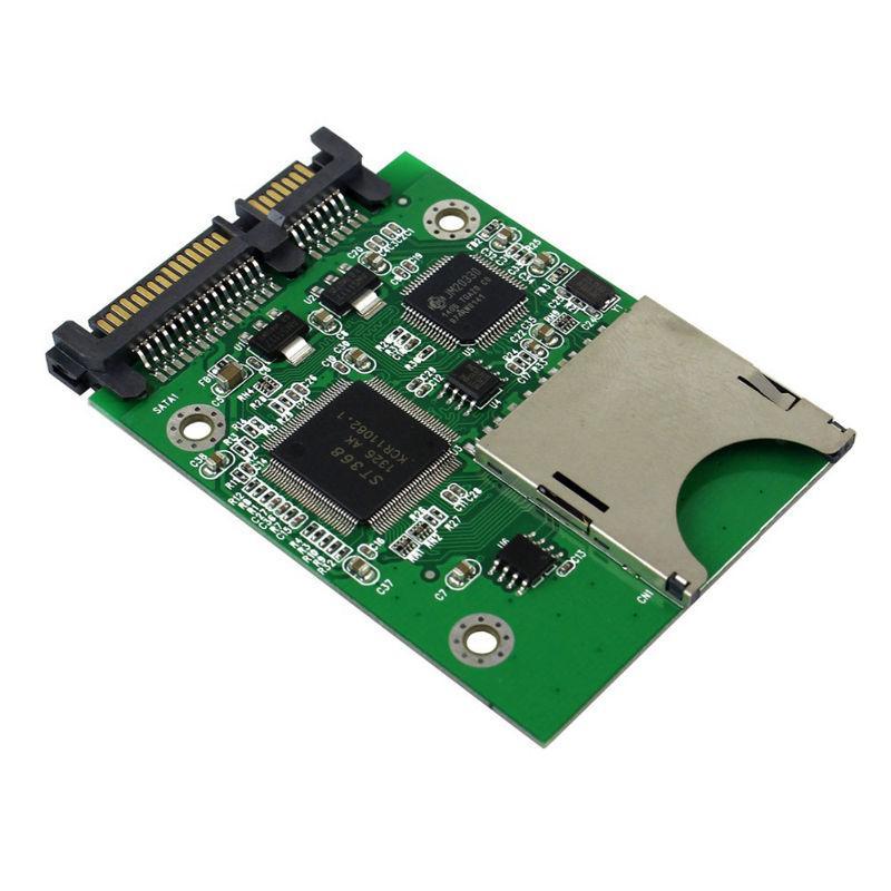 Sd Sdhc Mmc Memory Card To Sata 22pin Ssd Hdd Hard Disk Drive Sd Card To Sata Adapter By Benefitwen.