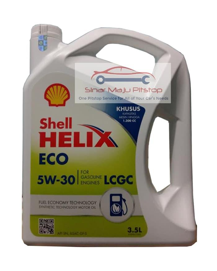 SHELL HELIX ECO SYNTHETIC 5W-30 ORIGINAL - Oli Mobil NISSAN MARCH 1.2