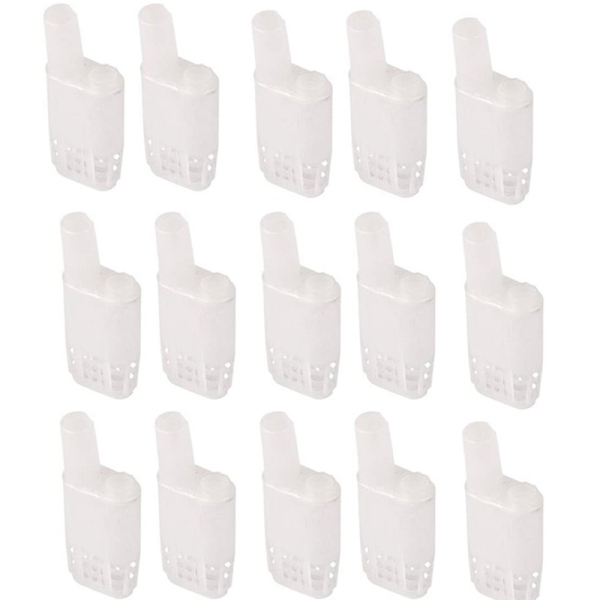 Beekeeping Cages Plastic White Bee Queen Cages Bee Tools Apiculture Bee Equipment Protection Queen Bee Cage 200 Pcs