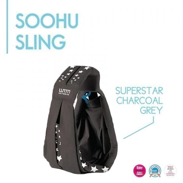 We Made Me Soohu 5 in 1 Baby Sling Classic Superstar - Charcoal Grey