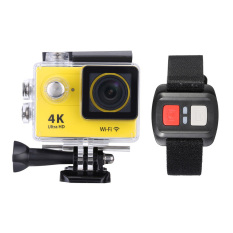 2 Lcd 4 K 3840A 2160 15Fps 1080 P 60Fps Full Hd Wifi App 30 Mtahan Air 12Mp Olahraga Action Camera Dv 170A°Wide Angle Lens Withremote Watch Kuning Original