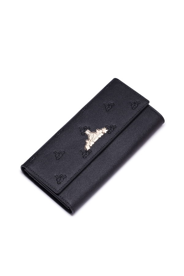 Jual Imported Nucelle Real Genuine Leather Purse Wallet Money Checkbook Clutch Bag Trifold Embossed Long Black Di Bawah Harga